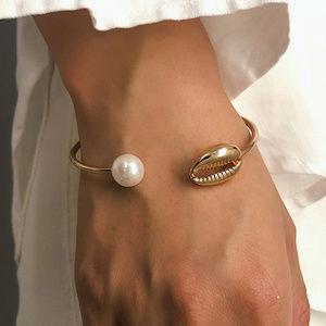 5/$20 Mix & Match Gold Bangle Shell Bracelet